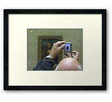 Mona Lisa viewed Framed Print