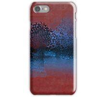 Decorative Trees in Aqua and Red iPhone Case/Skin