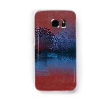 Decorative Trees in Aqua and Red Samsung Galaxy Case/Skin