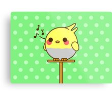 Kawaii bird Metal Print