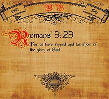 Bible Verse Romans 3:23 by cuda12