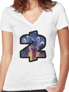 Payday 2 Logo Design #1 Women's Fitted V-Neck T-Shirt