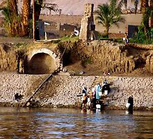 Collecting Water On the Nile by Nancy Richard