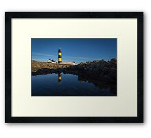 Blue Lighthouse Framed Print
