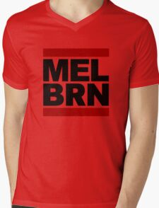MELBRN Mens V-Neck T-Shirt
