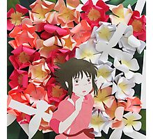 Spirited Away's Chihiro Running Through Flowers Photographic Print