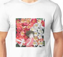 Spirited Away's Chihiro Running Through Flowers Unisex T-Shirt