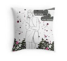Lovely weather Throw Pillow