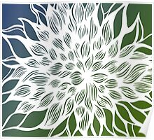 flower (green-blue) Poster
