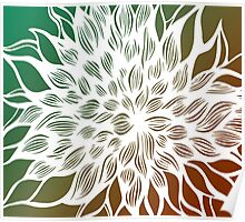 flower (orange-green) Poster