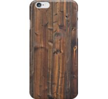 Brown wood wall texture iPhone Case/Skin