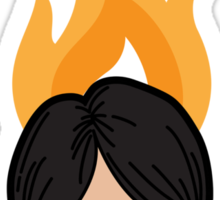 The Loof is on Fire - Himchan Sticker