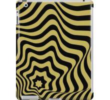 Op-Art Black/Gold iPad Case/Skin
