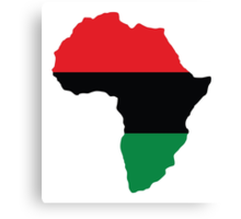 Red, Black & Green Africa Flag Canvas Print