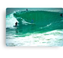 Surfing The Wedge Canvas Print