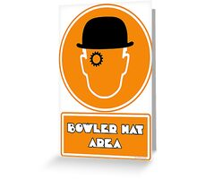 Bowler Hat Area Greeting Card