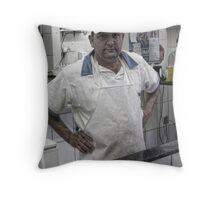 fish market Throw Pillow