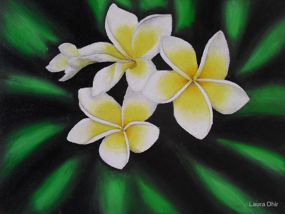Yellow Frangipanis by Laura Dhir