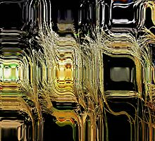 Black Gold Abstract by Darlene Lankford Honeycutt