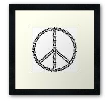 Peace Bombs Framed Print