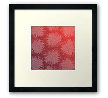 flower pattern (purple-peach) Framed Print