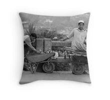 Wheelbarrow Cart Throw Pillow
