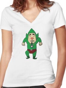 Tingle! (Dancing Edition) Women's Fitted V-Neck T-Shirt
