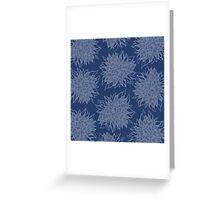 flower pattern (blue) Greeting Card