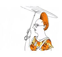 Lady with a parasol Photographic Print