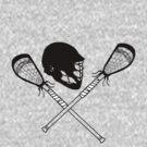 Lacrosse helmet & sticks by Rachel Counts