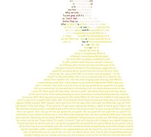 Belle in Text Art by RonohDesigns