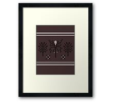 Knitted Slenderman Framed Print