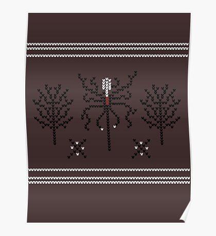 Knitted Slenderman Poster