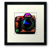 Camera pop art Framed Print