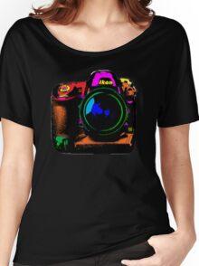 Camera pop art Women's Relaxed Fit T-Shirt