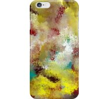 Textured Abstract in Turquoise, Gold, Red, and White iPhone Case/Skin