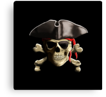 The Jolly Roger Pirate Skull Canvas Print