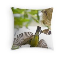 Little Spiderhunter 3 Throw Pillow