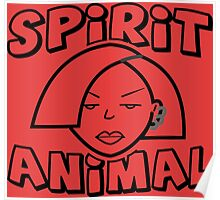 Jane Lane SPIRIT ANIMAL BLACK Poster