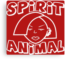Jane Lane SPIRIT ANIMAL WHITE Canvas Print