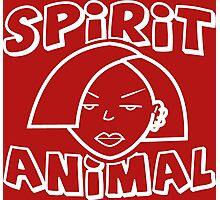 Jane Lane SPIRIT ANIMAL WHITE Photographic Print