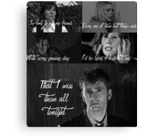 The Light Behind Your Eyes: Doctor Who Canvas Print