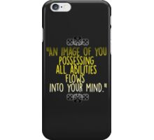 Kingdom Hearts 2 - Master Form Mirror Quote iPhone Case/Skin