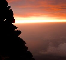 Sunrise atop Mount Fuji. by Matt Robertson
