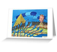 255 - HELPLESS GREED - DAVE EDWARDS - INK & ACRYLIC - 2009 Greeting Card