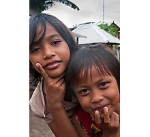 Village Girls Photographic Print