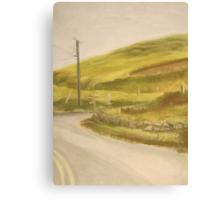 Ireland: Country Crossroad Canvas Print