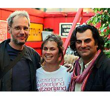 Filip,Claire and John at Paladar Fumior Photographic Print