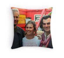 Filip,Claire and John at Paladar Fumior Throw Pillow