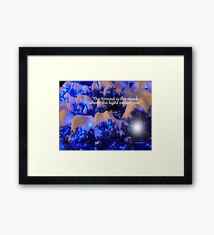 Snow and Light Framed Print